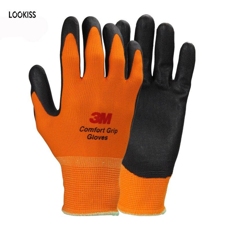 1 pairs ligereza c modo orange poli ster nylon de trabajo - Guantes de seguridad ...