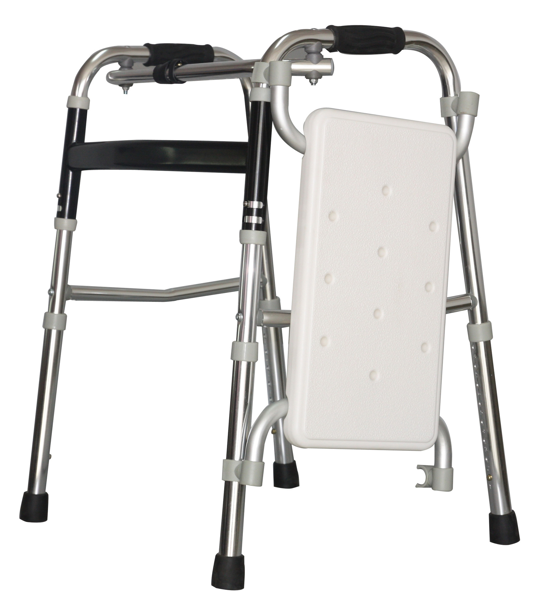 Продажа старики складные ходунки с сиденьем Первая помощь Алюминий Walker сидеть ремень костылей