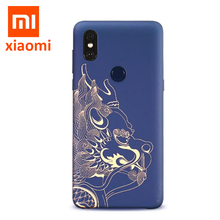 원래 Xiao mi Mi Mi x 3 (4GB 버전) 고대 용 짐승 그림 PC 케이스 MI MI X3 뒷 표지 셸