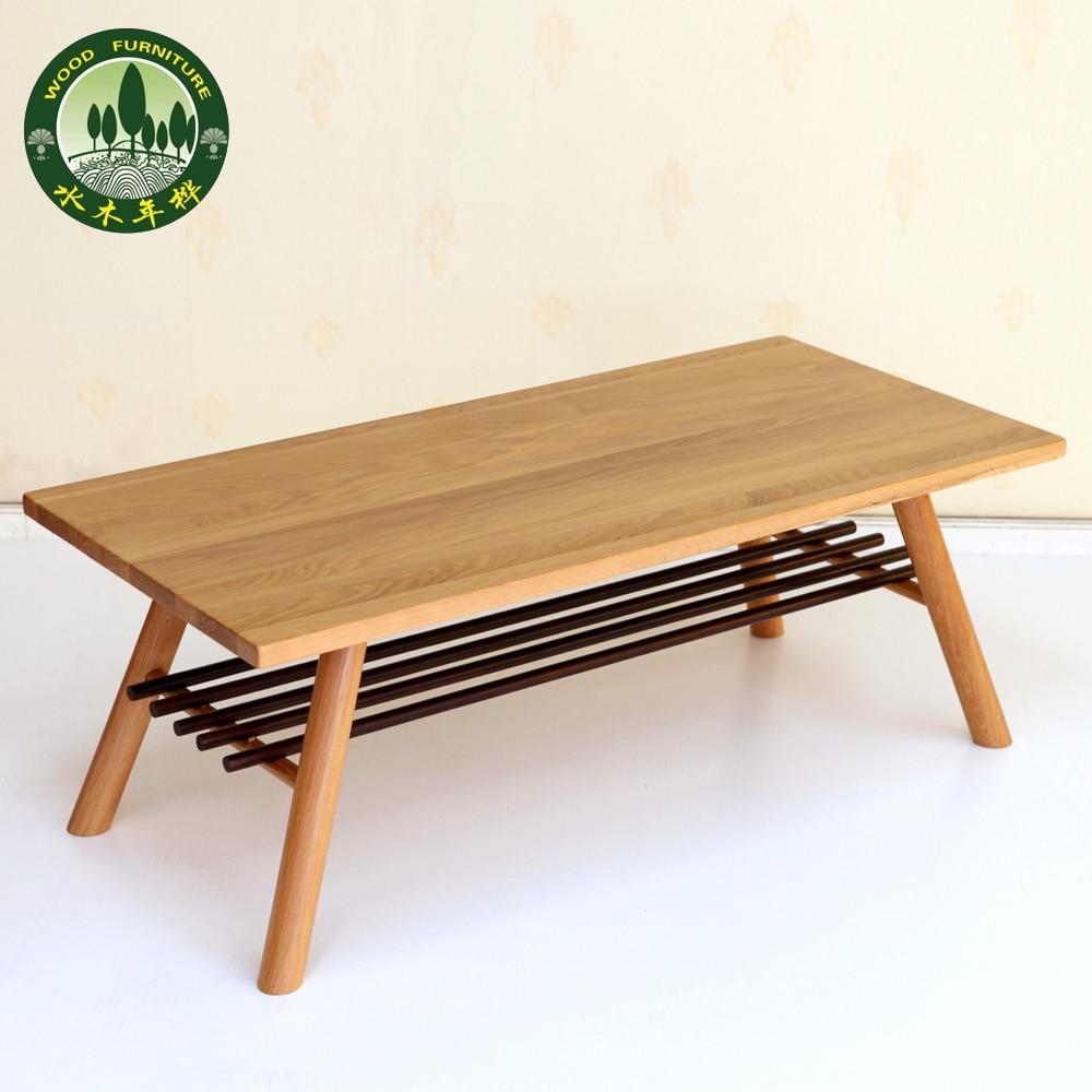 Delightful ... Mizuki Japanese Style Coffee Table In Birch Wood American White Oak  Living Room Furniture Long ...