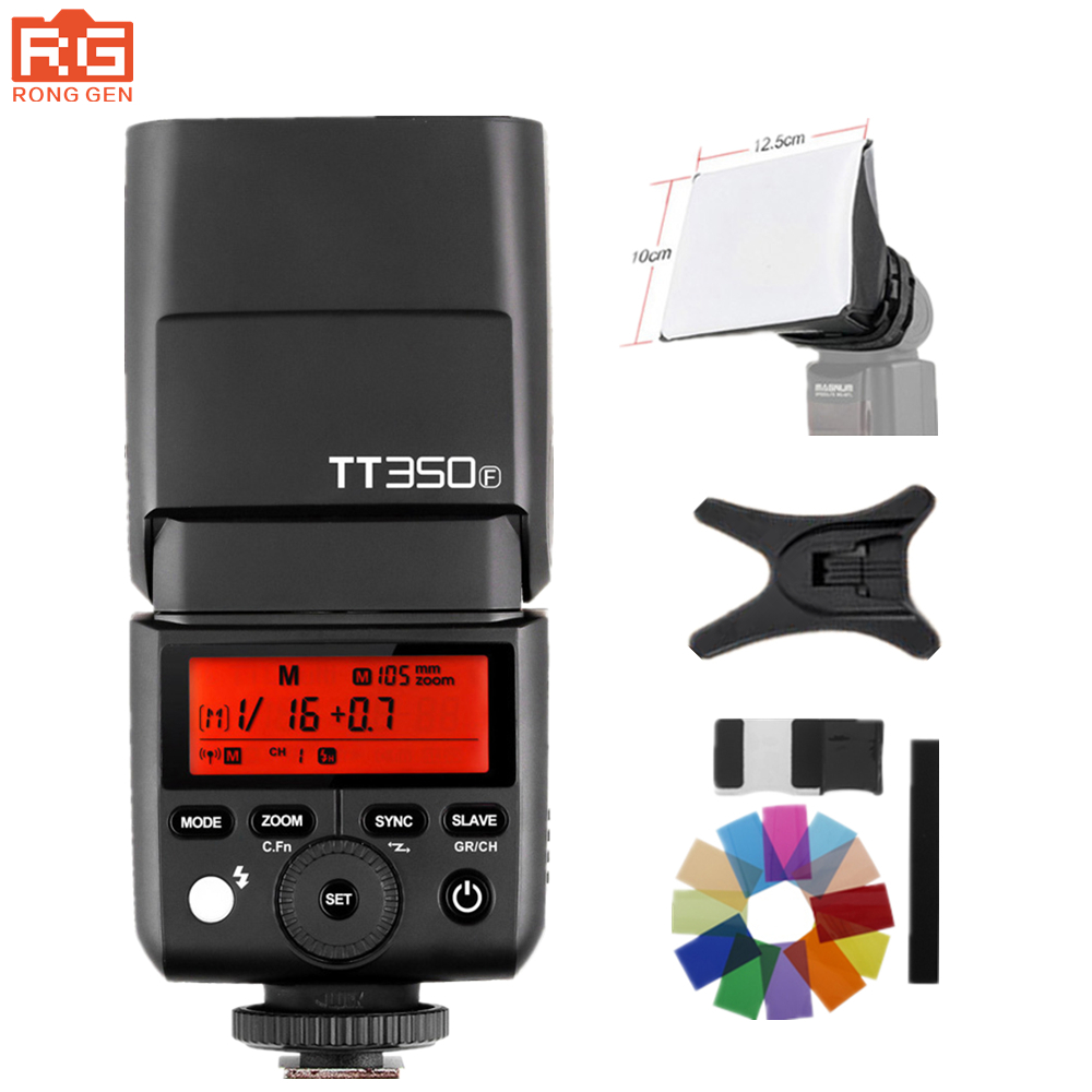 GODOX Mini TT350F X1T-F TTL HSS 2.4GHz 1/8000 s GN36 Flash Pocket lights TT350 + X1TF Trigger for Fujifilm Cameras