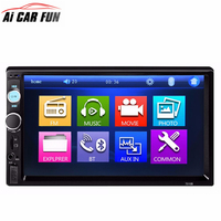 7010B 2 Din Car MP5 Player Car Video Player Touch Screen Auto Audio Stereo Multimedia FM