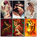 Crazy Sex Oil Painting 5D Diy Diamond Painting Cross Stitch European Style Embroidery Painting Crafts Needlework Diamond Mosaic