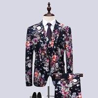 Suits blazers with trousers set 3 pieces Men's Ankara Suit Jacket fashion wax print dashiki male suits sets plus size 6XL
