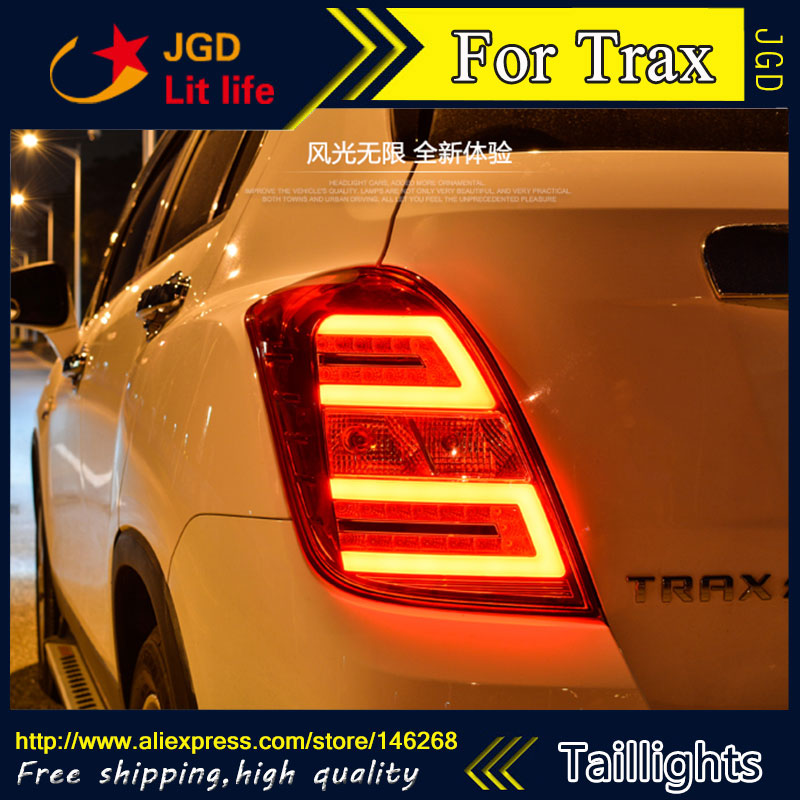 Car Styling tail lights for Chevrolet Trax taillights LED Tail Lamp rear trunk lamp cover drl+signal+brake+reverse car styling led tail lamp for toyota camry taillights 2012 2014 camry rear light drl turn signal brake reverse auto accessories