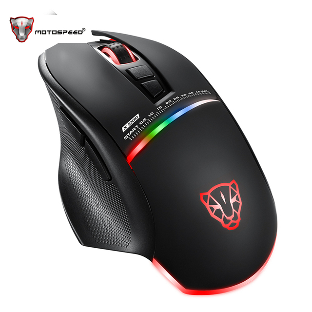 Motospeed V10 USB Wired Gaming Mouse with LED Backlight 7 Buttons 4000 DPI Optical Game Wired Mouse for Laptop/Desktop/PC
