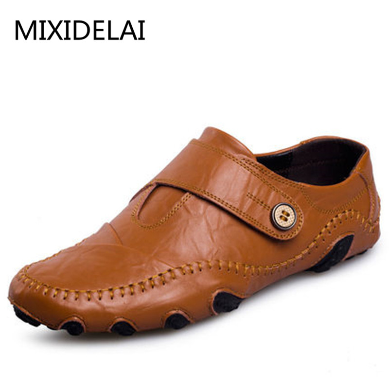 Fashion British Style Men Causal Shoes Genuine Leather Slip On Men Shoes High Quality Outdoor Shoes Zapatos Hombre maden 2017 new fashion designer men leather casual shoes high quality zapatillas deportivas hombre british style summer shoes