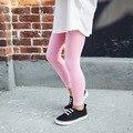 Calças da menina chegam novas leggings de cores Doces meninas Da Criança clássico Leggings 2-7A crianças calças do bebê crianças leggings