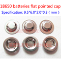 18650 lithium battery anode steel welding cap can be pointed cap 18650 batteries instead of flat pointed hat