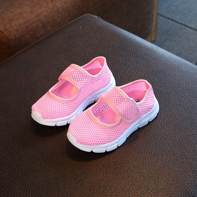 Top Selling Summer 5 Color Children Shoes Boys Sneakers Baby Girls Net Breathable Casual Sport Shoes Kids Soft Shoes Size 26-36