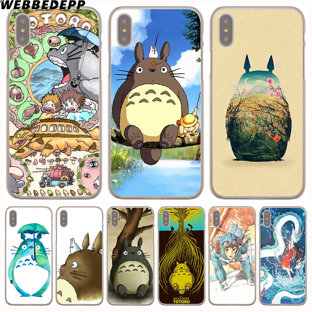 low priced 76d5d e04d2 US $1.88 6% OFF|WEBBEDEPP studio ghibli ghibli totoro Hard Phone Case for  iPhone X XS Max XR 7 8 6S Plus 5 5S SE 5C 4 4S Cover-in Half-wrapped Case  ...