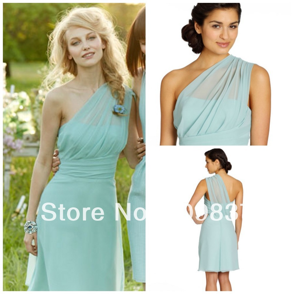 Cheap one shoulder chiffon pleating knee length pretty summer mint cheap one shoulder chiffon pleating knee length pretty summer mint junior bridesmaid dresses in bridesmaid dresses from weddings events on aliexpress ombrellifo Choice Image