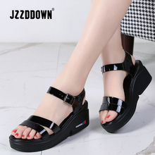 JZZDDOWN NEW Summer women sandals platform wedges thick heel flat gladi
