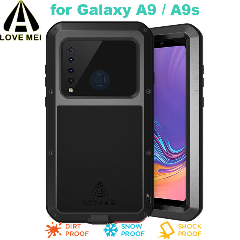 A9 S Love Mei Powerful Case For Samsung Galaxy A9 A9s Luxury Aluminum Metal Armor Case Life Waterproof Shockproof Cover+glass