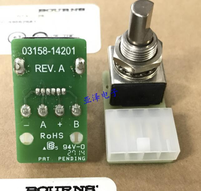 все цены на  [VK] ORIGINAL electrodeless potentiometer EM14A1B-502-L032N unlimited rotating potentiometer 5K resistance 360 degrees switch  онлайн