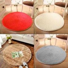 Suave y redondo circular círculo moderna shaggy carpet floor colored alfombras tapetes