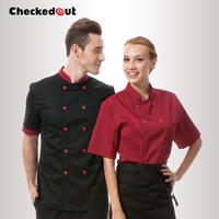 Free Shipping Cook Suit Checkedout Chef Jacket Cheapest Chef Uniform Chef Clothes High Quality Cook Shirt