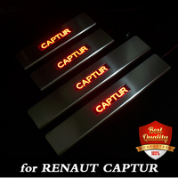 Stainless Steel Red/Blue LED light Door Sill Scuff Plate Door Sill Threshold for Renault captur / QM3