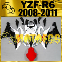 Motoegg Injection Fairings For YZF-R6 YZF R6 2008-2011 Red Black #Y68M21 + Tank  Motorcycle plastic