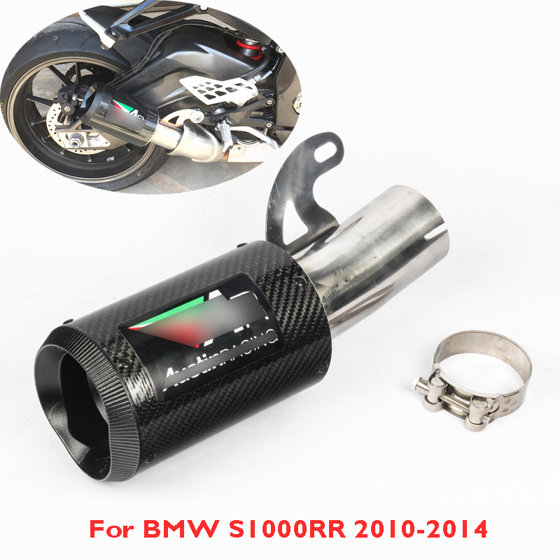 S1000RR Motorcycle Exhaust Pipe Tip Carbon Fiber Exhaust System Slip On Pipe For BMW S1000RR 2010