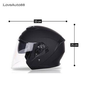 Image 2 - אופנוע קסדת חצי פנים ABS אופנוע קסדת בטוח מרוצים לאישה/גבר