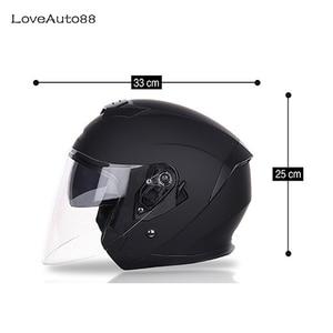 Image 2 - Motorcycle Helmet Half Face ABS Motorbike Helmet Safe Racing helmet Motorcycle Helmet For Woman/Man