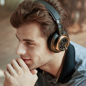 Image 5 - 1 יותר H1707 לשלושה נהג מעל אוזן קווית אוזניות Hifi בידוד רעש על אוזן אוזניות אוזניות גדולות עבור טלפון, מתקפל עיצוב