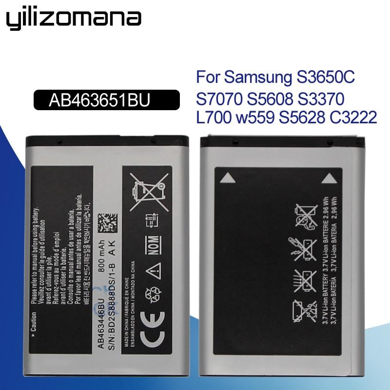 YILIZOMANA Original Batterie AB463651BU Für Samsung W559 S5620I S5630C S5560C C3370 C3200 C3518 J808 F339 S5296 C3322 L708E S5610