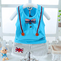 2017 New Kids Clothes Baby Boy Summer Clothes Set Strap Vest + Shorts Childrens Toddler Boy Clothing Set Baby Clothes for Boys