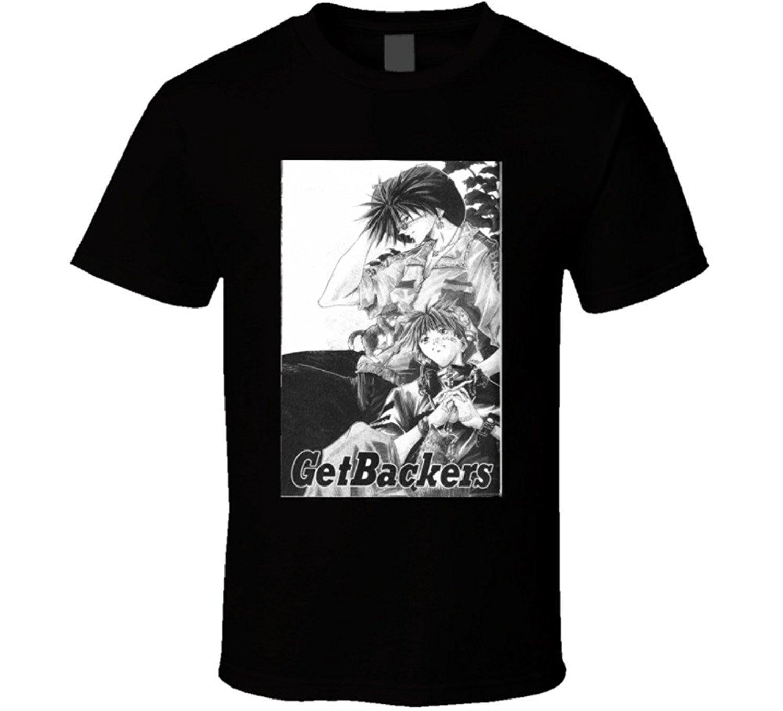 Getbackers аниме сериал плакат вентилятор Футболка