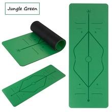 Envío Gratis COLOR verde CAUCHO NATURAL PU YOGA MATS 183 68 cm 5mm espesor  antideslizante 22c9c9c4a294