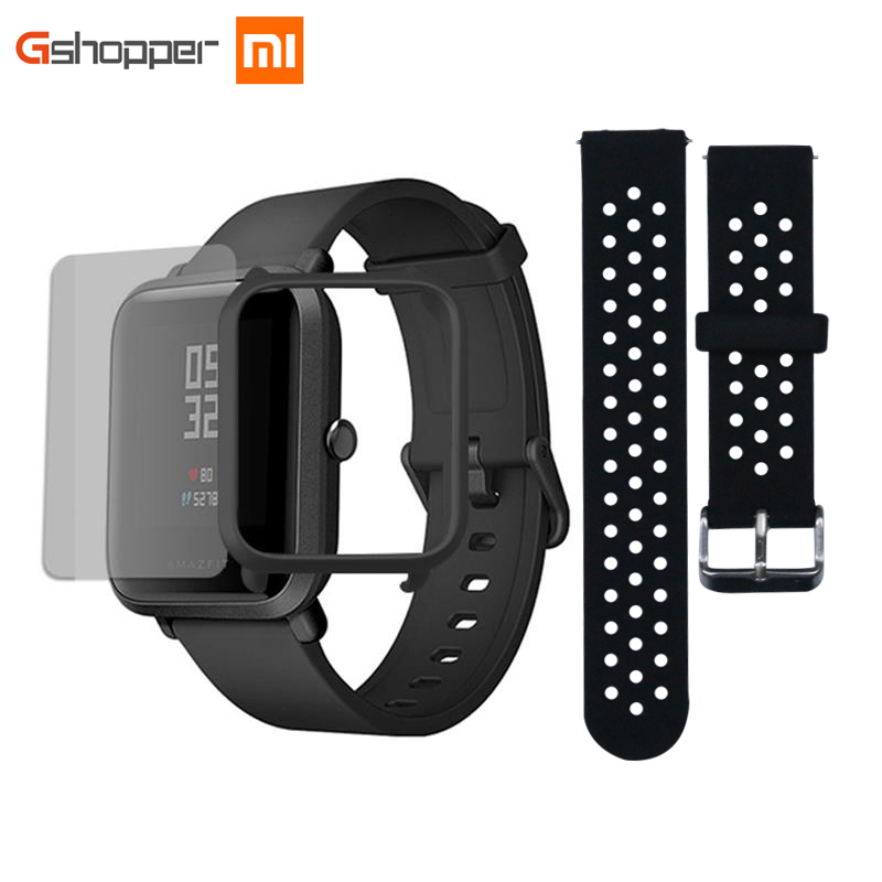 Original AMAZFIT Bip Jugend Edition Smart Uhr GPS GLONASS Bluetooth 4,0 Heart Rate Monitor IP68 Wasserdichte Android 4.4 IOS 8