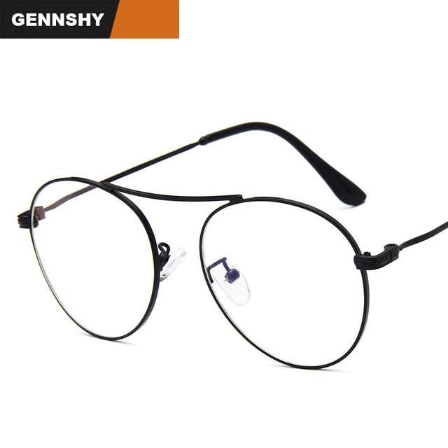 3cb979bcb40 2018 Vintage Optical Frame Men Women Round Metal Eye Glasses Man Retro  Brand Design Eyewear Artistic Reading Glasses Clear Lens