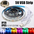 6 Colors 0.5M/1M/2M/3M 30/60/120/180 LEDs USB SMD 3528 LED Strip Light TV Background Computer Waterproof/Non Waterproof DC5V