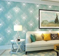 Luxury Crystal Damask Non Woven Wallpaper Rolls For Sofa Background Bedding Room 3D Diamond Wall Paper