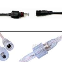 10/50 pares de led conector ip68 dc 5.5x2.1mm macho para fêmea jack adaptador para tira led adaptador de alimentação plug cabo