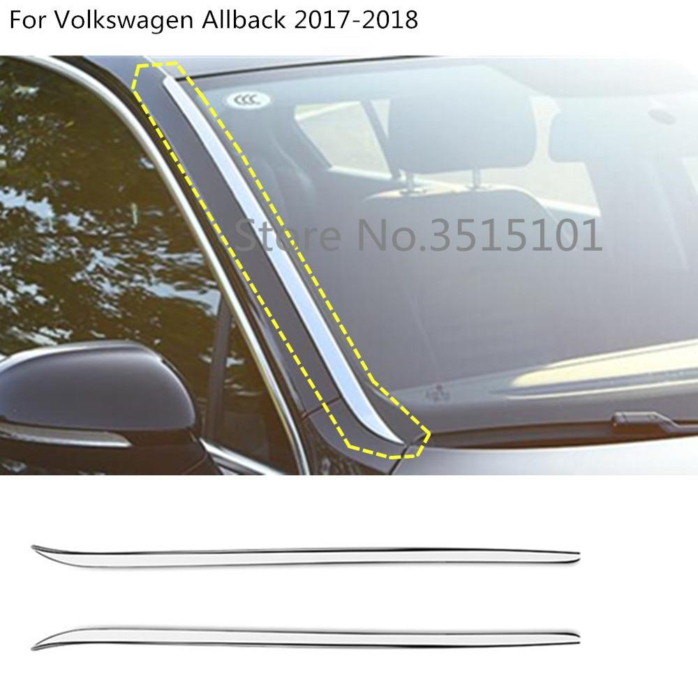 Bâche de voiture bâton avant verre pare-brise colonne cadre garniture pour VW Volkswagen Passat B8 berline Variant Alltrack 2015 2016 2017 2018