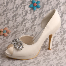 Wedopus MW541แฟชั่นบูติกรองเท้าเจ้าสาวแพลตฟอร์มปั๊มแต่งงานที่กำหนดเองทำให้