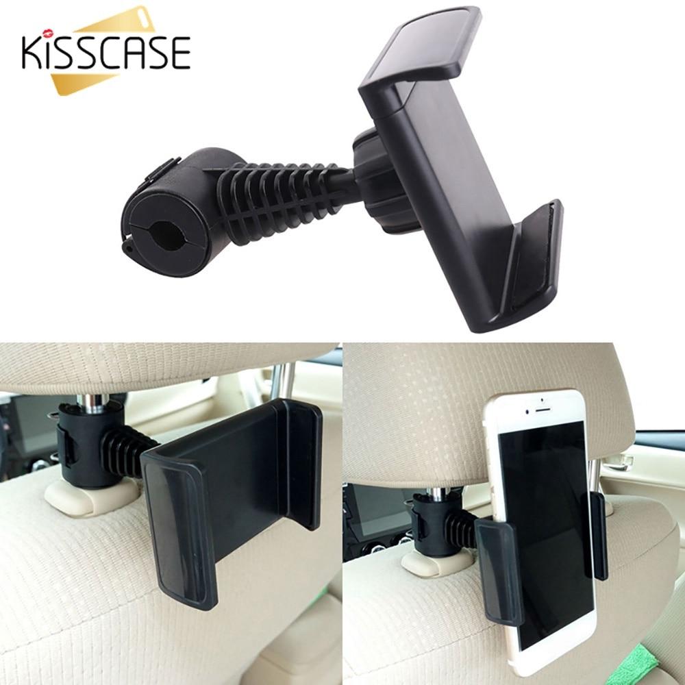 Car Headrest Mount Rear Pillow Stand Adjustable Bracket for Phone Tablet Durable