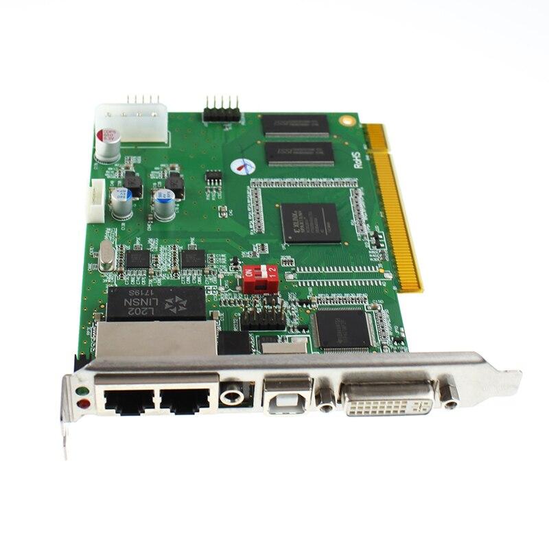 Spedizione gratuita linsn TS802D Invio Carta linsn TS802 Invio Carta Sincrono LED Scheda Video Full Color LED Display Video