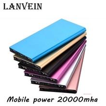 High Quality Thin Metal Power Bank 20000mAh Mobile External Battery Portable Power Bank for all smartphones Dual USB Powerbank