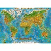 Cartoon Map Of The World The Wooden Puzzle 1000 Pieces Ersion Paper Jigsaw Puzzle White Card
