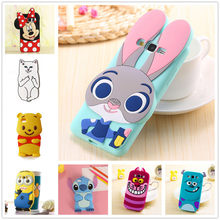 3D Cartoon Soft Silicone Case for Samsung Galaxy S5 S6 S7 edge S8 Plus Note 8 Grand Prime A3 A5 J1 J3 J5 J7 2016 2017 Cover(China)