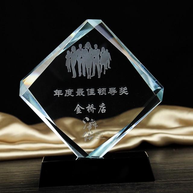 470bdf5a7f7 Troféus de cristal e prêmios Personalizados Logotipo Tênis De Golfe Futebol  Basquete Champions League Cup Troféu