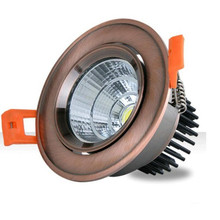 Free Shipping 7W 10W Dimmable Recessed COB led ceiling down light downlamp AC85~265V With LED Driver