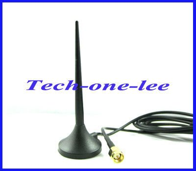 10pcs/lot SMA 3dbi 3G Antenna With RG174 Cable 1.5M Free Shipping