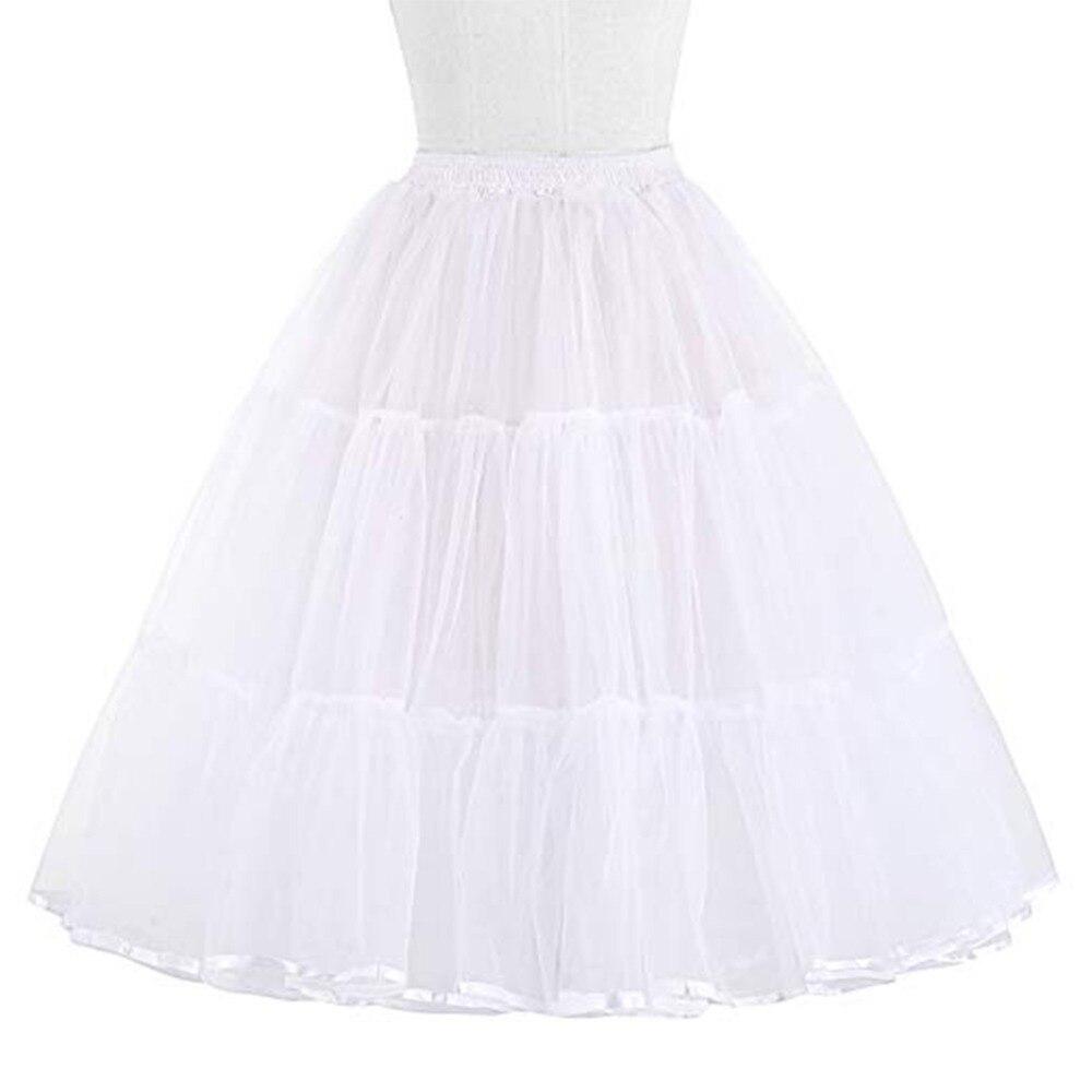 2019 Women Short Organza Halloween Petticoat Crinoline Petticoat for Wedding Dresses Underskirt Rockabilly Tutu