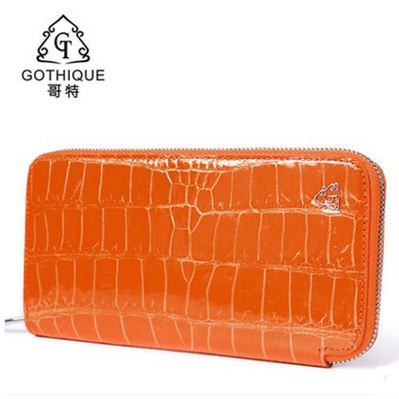 Gete 2018 new Thai real crocodile leather hand bag female 24 k gold leather handbags wallet long money yuanyu real thai crocodile purse female long clutchse crocodile leather bag more screens hand caught bag women day cluthes