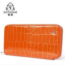 Gete2016 new Thai real crocodile leather hand bag female 24 k gold leather handbags wallet long money