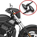 Black Metal Smoke Amber Bullet Universal Turn Signal Light For Suzuki Yamaha Harley Davidson Cafe Racer